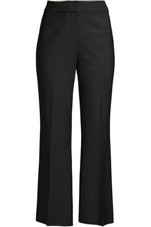 REBECCA TAYLOR Women's Cavalry Twill Cropped Flare Pants - - Size 12