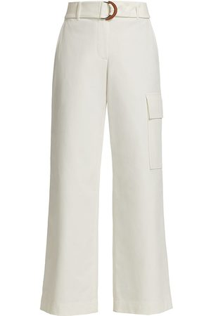 Lafayette 148 New York Women's Broadway Cargo Pants - Sea Salt - Size 16