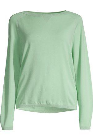 Lafayette 148 New York Women's Saddle Lurex Trim Sweater - Julep - Size Medium