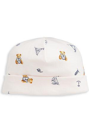 Ralph Lauren Baby's Nautical Polo Bear Cotton Interlock Hat
