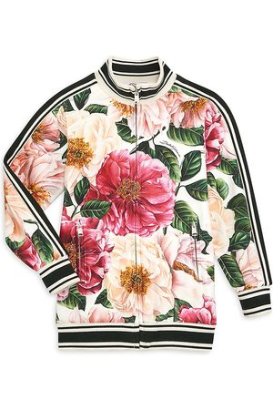 Dolce & Gabbana Little Girl's & Girl's Floral Zip-Up Sweater - Multi - Size 12