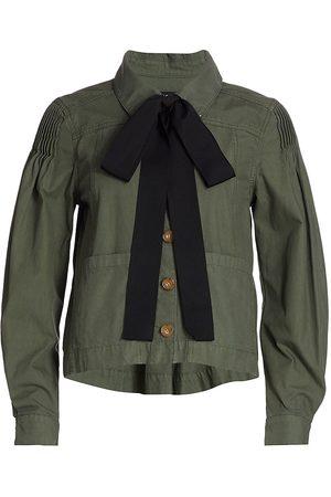 VERONICA BEARD Women's Weslyn Utility Jacket - Army - Size Large