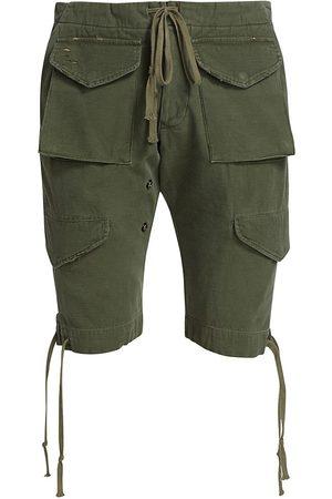 GREG LAUREN Men's Baker Cargo Shorts - Army - Size Small