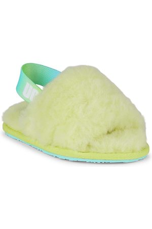 UGG Little Girl's & Girl's Fluff Yeah Fur Slides - - Size 12 (Child) Sandals