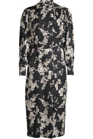 REBECCA TAYLOR Women's Gabrielle Silk-Blend Long-Sleeve Dress - Combo - Size Medium
