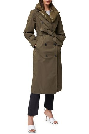 Mackage Women's Sage Double-Breasted Down Trench Coat - Army - Size XL