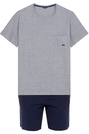 Hom Men's 2-Piece T-Shirt & Shorts Pajama Set - Navy - Size Small