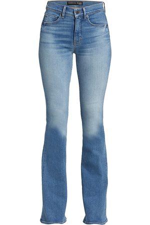 VERONICA BEARD Women's Beverly High-Rise Skinny Flare Jeans - Mist - Size Denim: 32