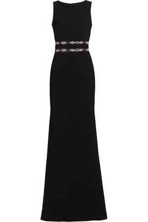 THEIA Women's Kaylee Crystal Embellished Column Dress - - Size 14