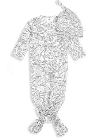 Aden + Anais Baby's 2-Piece Comfort Knit Zebra-Print Gown & Hat Set - Grey - Size Newborn