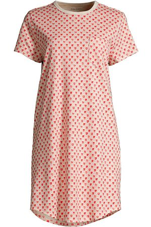 Roller Rabbit Women's Quilted Hearts Cotton Sleep Shirt - Coral - Size XS