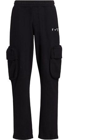 OFF-WHITE Men's Logo Cargo Sweatpants - - Size XS