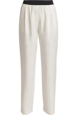 Loulou Studio Women's Straight-Leg Linen Pants - Ivory - Size XS