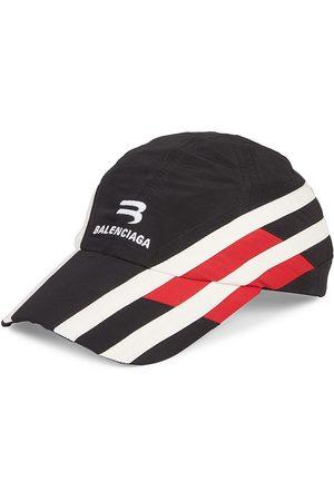 Balenciaga Men's Tracks Colorblock Stripe Baseball Cap - - Size Large