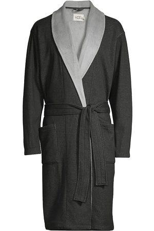 UGG Australia Men's Heritage Comfort Robinson Double-Knit Robe - Heather - Size Medium/Large
