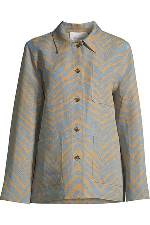 Lafayette 148 New York Women's Amaris Zebra Chevron Print Jacket - Fresh - Size Medium