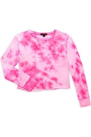 Flowers By Zoe Girl's Neon Tie-Dye Cropped Sweatshirt - Neon - Size 7