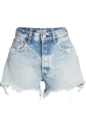 Moussy Women's Tribbey High-Rise Denim Shorts - Lt - Size Denim: 30