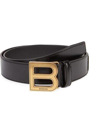 Balenciaga Men's Hourglass Leather Belt - - Size 44