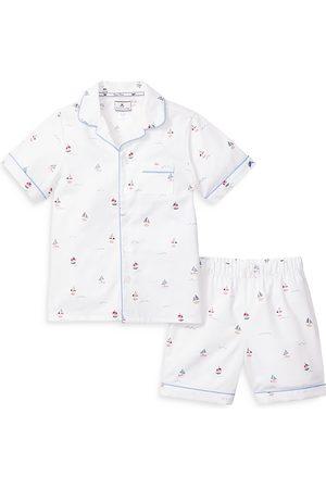 Petite Plume Unisex Bateau Gingham Sleep Shorts Set - Baby, Little Kid, Big Kid