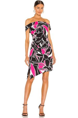 Milly Ally Stencil Floral Dress in .