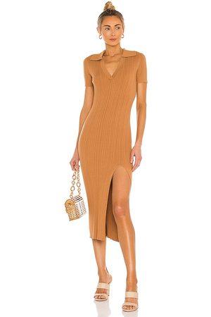 L'Academie Geneva Knit Dress in Nude.