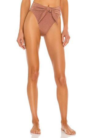 Montce Paula Tie-Up Bikini Bottom in Mauve.