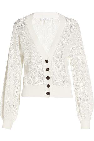 Frame Women's Chain Lace Cardigan - Blanc - Size Medium