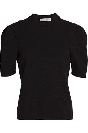 Frame Women's Pleated Panel T-Shirt - Noir - Size XS