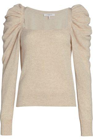Frame Women Denim - Women's Femme Square Neck Sweater - Oatmeal Heather - Size Large