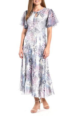 Komarov Women's Flutter Sleeve Dress