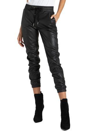 n:PHILANTHROPY Women's Scarlett Faux Leather Jogger Pants
