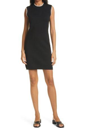 Rebecca Taylor Women's Whipstitch Sleeveless Sweater Dress