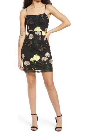 Lulus Women's Embroidered Sequin Dress