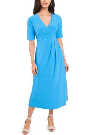 Chaussmoi Women's Laura Faux Wrap Midi Dress