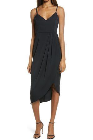 Lulus Women's Reinette V-Neck Midi Dress