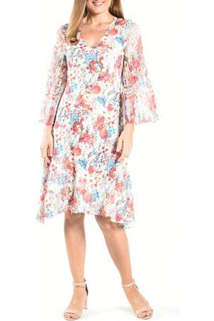 Komarov Women's Long Flare Sleeve Cocktail Dress