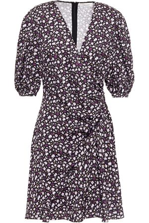CHINTI & PARKER Women Party Dresses - Woman Wrap-effect Floral-print Crepe De Chine Mini Dress Size 10