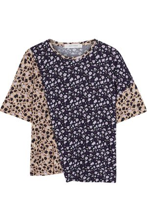 CHINTI & PARKER Women Short Sleeve - Woman Paneled Floral-print Bamboo-jersey T-shirt Size L