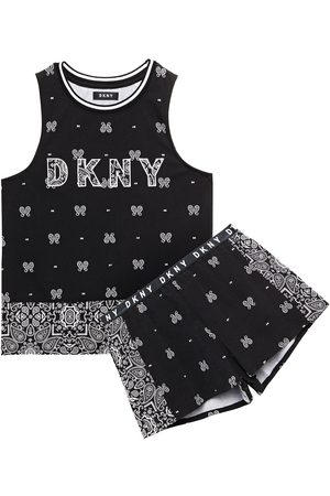 DKNY Woman Vintage Fresh Embroidered Printed Cotton-blend Jersey Pajama Set Size L