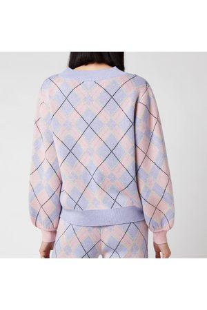 OLIVIA RUBIN Women's Nettie Knitted Check Jumper