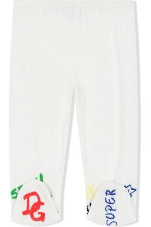 Dolce & Gabbana Baby Leggings - Logo-embroidered leggings