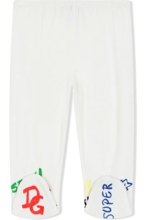 Dolce & Gabbana Kids Logo-embroidered leggings
