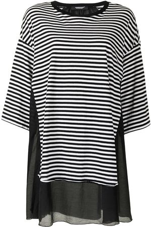 UNDERCOVER Women Tops - Extra-long striped cotton top