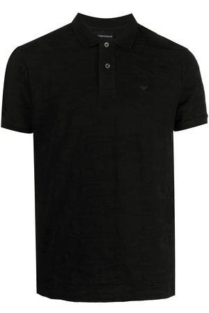Emporio Armani Camouflage-pattern cotton polo shirt