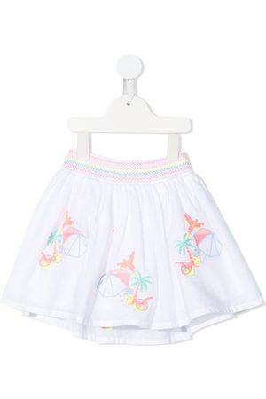Billieblush Tropic-print flared skirt