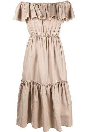 Federica Tosi Off-shoulder ruffled dress