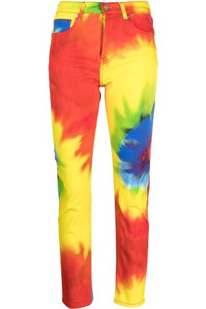 Alexandre Vauthier Tie-dye straight leg jeans