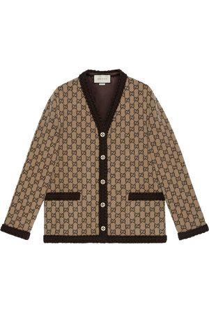Gucci GG intarsia-knit cardigan - Neutrals