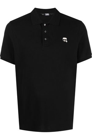 Karl Lagerfeld Ikonik Karl logo-patch polo shirt